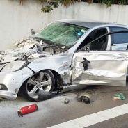 Así quedó el Mercedes Clase E responsable del siniestro - SoyMotor.com