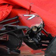 Morro del Ferrari F14 T tras el accidente de Räikkönen en Baréin - LaF1