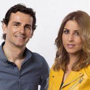 Pedro De La Rosa y Noemí de Miguel en una imagen de Movistar+ - LaF1