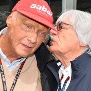 Niki Lauda junto a Bernie Ecclestone - LaF1