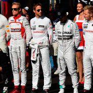 Minuto de silencio por Jules en el pasado GP de Rusia 2014 - LaF1