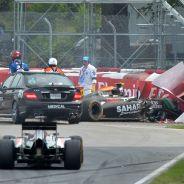 Pérez recibió una sanción de cinco posiciones en la parrilla de Austria por su accidente con Massa en Canadá - LaF1