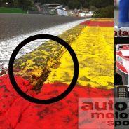 Los bordillos de Spa, dañados por el contacto con los monoplazas - LaF1