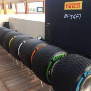 Imagen de las nuevas ruedas de 2017 en el acto de Pirelli -LaF1