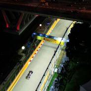 Vista nocturna del trazado de Marina Bay - LaF1