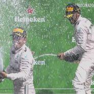 Rosberg y Hamilton, en el podio de México - LaF1