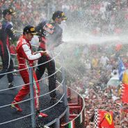 Podio del GP de Italia F1 2013 con Alonso, Vettel y Webber - LaF1