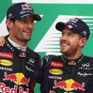 Mark Webber, Sebastian Vettel y Fernando Alonso en el podio de Interlagos