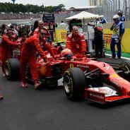 Kimi Räikkönen en la parrilla de Interlagos - LaF1