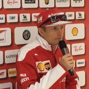 Kimi Räikkönen habla con la prensa en Silverstone - LaF1