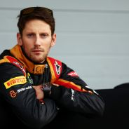 Romain Grosjean durante los test - LaF1.es