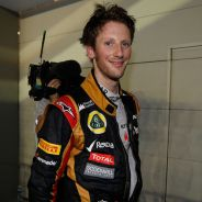 Romain Grosjean en el parc fermé de Singapur - LaF1