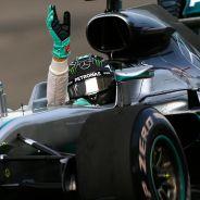 Nico Rosberg festeja su victoria en China - LaF1
