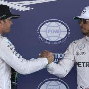 Rosberg y Hamilton tras la calificación en México - LaF1