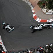Nico Rosberg, por delante de Lewis Hamilton en el GP de Mónaco 2014 - LaF1