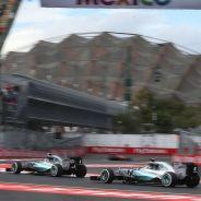Nico Rosberg y Lewis Hamilton en México - LaF1