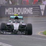 Así ha quedado la ala delantera de Rosberg - LaF1