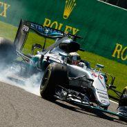 Lewis Hamilton, ayer en Bélgica - LaF1