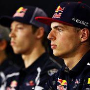Carlos Sainz, Daniil Kvyat y Max Verstappen en la rueda de prensa de España 2016 - LaF1