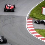 Lewis Hamilton y Nico Rosberg se tocaron en la salida del GP de Canadá - LaF1