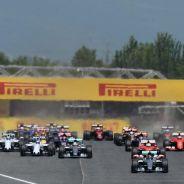 La salida del GP de España - LaF1