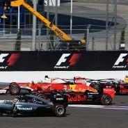 La salida del GP de Rusia fue bastante accidentada - LaF1