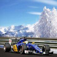 Marcus Ericsson en la felicitación navideña del equipo Sauber - LaF1