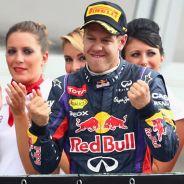 Sebastian Vettel en el podio de Monza - LaF1