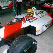 Ayrton Senna con el MP4-4 en el GP de Japón 1988 - LaF1