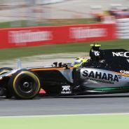 Pérez en la carrera del GP de España - LaF1