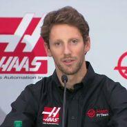 Romain Grosjean en su presentación con Haas F1 - LaF1