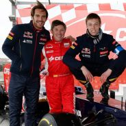 Jean-Éric Vergne junto a Antonio Albacete y Daniil Kvyat - LaF1