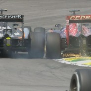 Sergio Pérez lucha con Max Verstappen en Brasil - LaF1