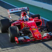 Sebastian Vettel en el test que hizo con Pirelli en Montmeló, a principios de septiembre - LaF1