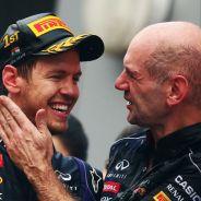 Sebastian Vettel y Adrian Newey celebran el tetracampeonato en India - LaF1