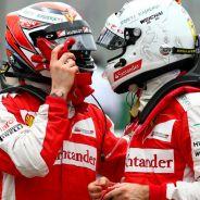 Kimi Raikkonen y Sebastian Vettel en Albert Park - LaF1.es
