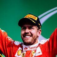 Vettel, en el podio de México, que finalmente le sería arrebatado - LaF1