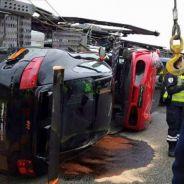 accidente camion con superdeportivos -SoyMotor