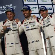 Mark Webber y sus compañeros en el podio de Sakhir - LaF1