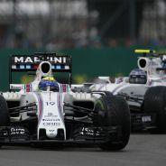 Felipe Massa y Valtteri Bottas en Silverstone - LaF1