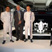 De izquierda a derecha: Felipe Massa, Pat Symonds, Valtteri Bottas, Frank Williams, Claire Williams y Mike O'Driscoll - LaF1