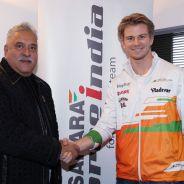 Así presentó Force India a Nico Hülkenberg