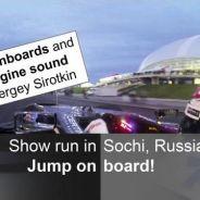 On board - Sergey Sirotkin en Sochi, Rusia