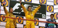 Podio del GP de Bélgica de 1998 - SoyMotor
