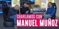 Manuel Muñoz charla con Antonio Lobato y Cristóbal Rosaleny