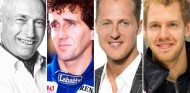 Juan Manuel Fangio, Alain Prost, Michael Schumacher y Sebastian Vettel - LaF1
