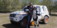 Probamos con Cristina Gutiérrez su Mitsubishi Montero del Dakar