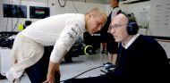Valtteri Bottas junto al fundador del equipo, Sir Frank Williams - LaF1