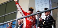 Kimi Räikkönen en el podio del GP de Estados Unidos - SoyMotor