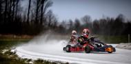 La jornada de Verstappen y Gasly en karting sobre nieve